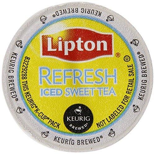 Lipton, Refresh SWEET TEA Iced Tea K-Cup Portion Packs for Keurig Brewers, 22 Count (Pack of 2)