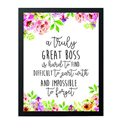 87e1c7bdda4 Boss Gift - A truly great boss is hard to find - Office Gift - Office Décor  - Going Away ...