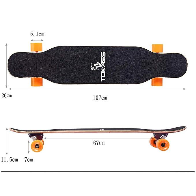 HIOD Patinete Longboard Skateboard 9 Capas Cubierta de Arce ...