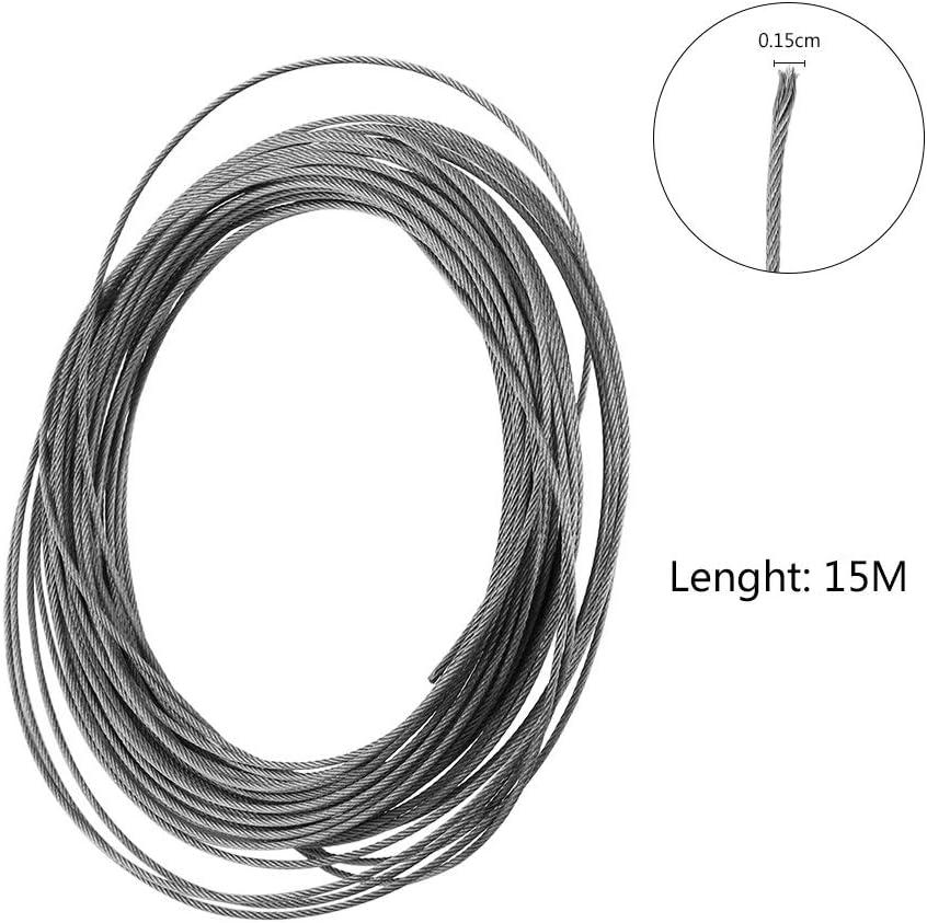 Edelstahlseil 15 Meter 304 Edelstahl Kabel Drahtseil Durchmesser 1,5 mm 1St