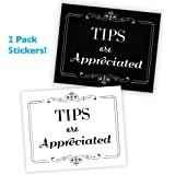 Wall26 Tips Are Appreciated Sticker/Decal Store sign and Tip Jar