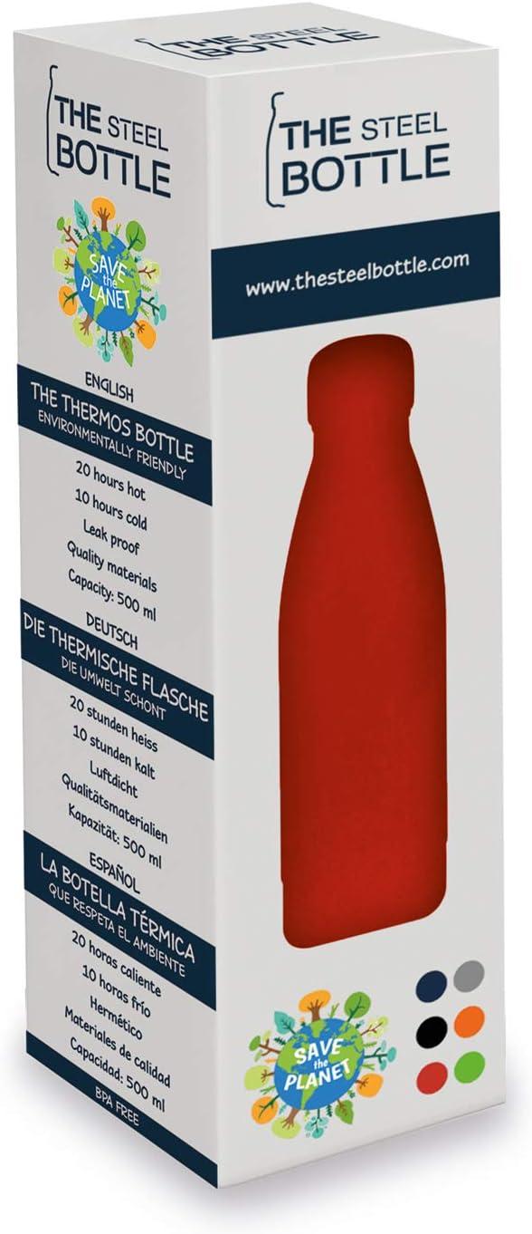 Botella roja de 500 ml The Steel Camping Aire Libre Talla M Botellas t/érmicas para Fiestas
