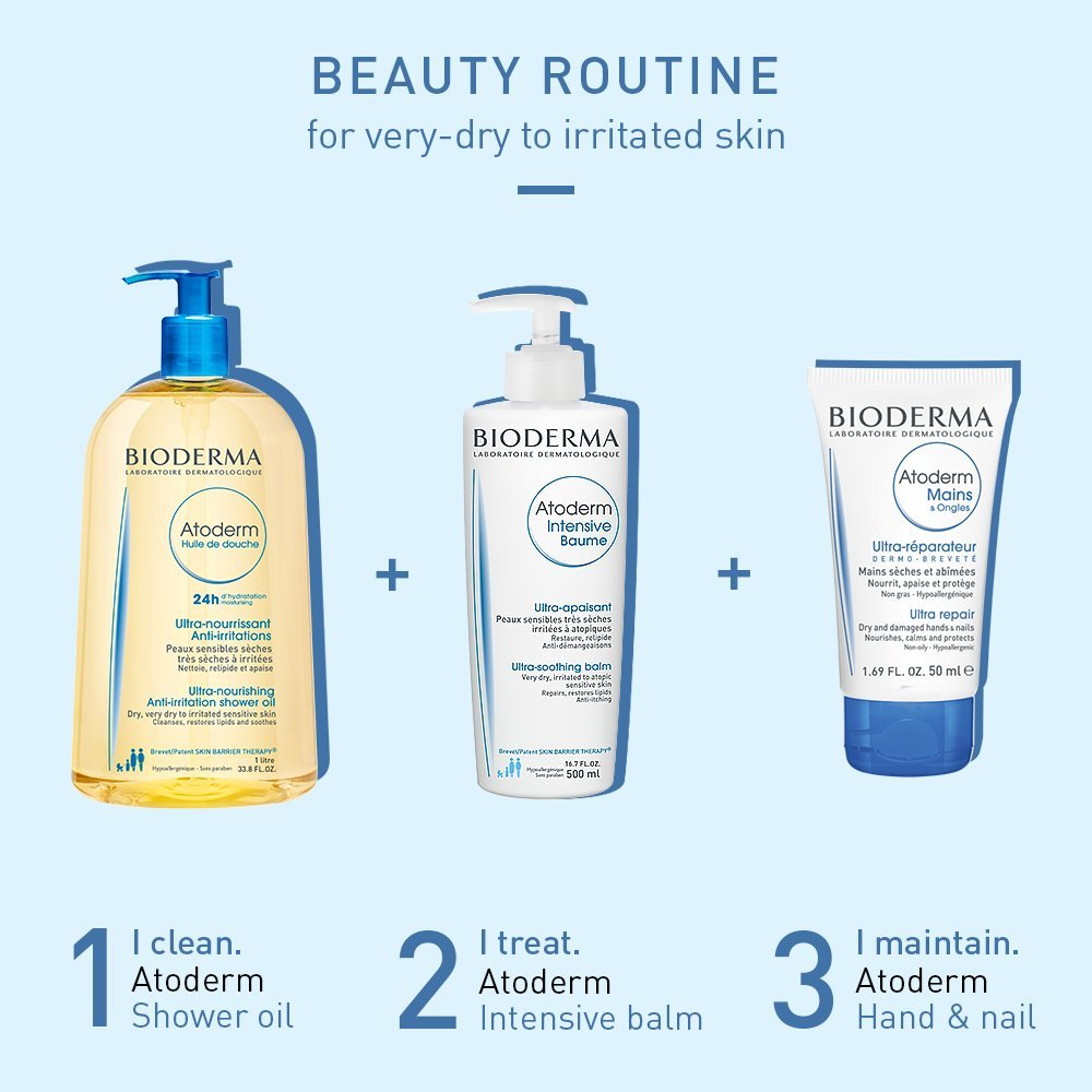 Bioderma Atoderm Hydrating Shower Body Oil for Dry Sensitive or Irritated Skin by Bioderma (Image #5)