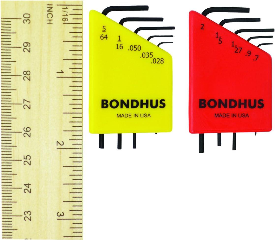Bondhus 20393 L-Wrench Hex Key Double Set