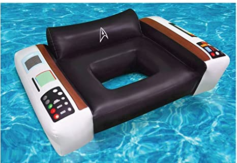 Amazon.com: Big Mouth Toys Star Trek Captain\'s Chair Pool Float ...