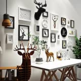 WUXK The Nordic photo wall combination deer head hanging photo frame wall in the living room walls are decorated in a minimalist creative photo Wall 7