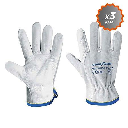 alta moda accogliente fresco negozio ufficiale Confezione da 3 guanti da giardinaggio Goodyear in pelle pieno ...
