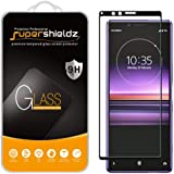 (2 Pack) Supershieldz for Sony (Xperia 1) Tempered Glass Screen Protector, (Full Cover) (3D Curved Glass) Anti Scratch, Bubbl