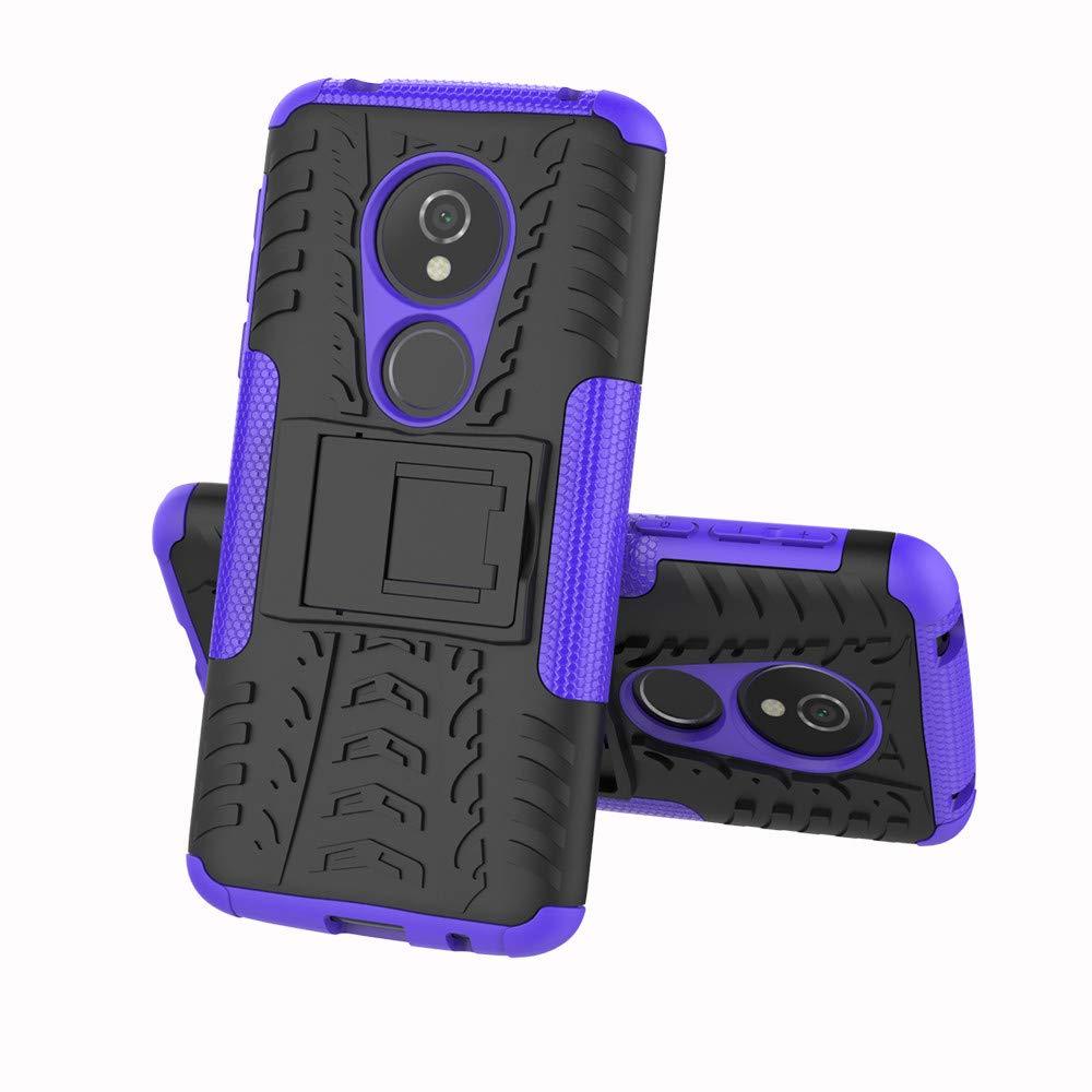 F/ür Motorola Moto E5 Play Gr/ün E5 Cruise E5 Cruise H/ülle,Colorful Dual Layer Hybrid Handyh/ülle Sto/ßfest Handys Schutz Case mit St/änder Schutzh/ülle f/ür Motorola Moto E5 Play