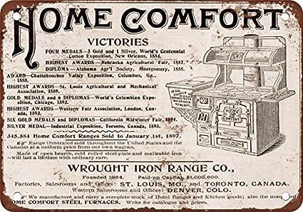 1897 de Hierro Forjado de Home Comodidad Estufa Reproducción de Aspecto Vintage Metal Placa metálica,