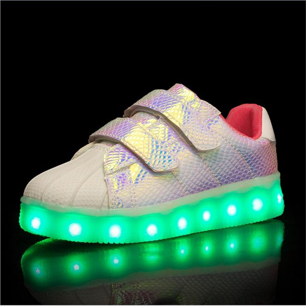 Hanglin Trade Kid LED Shoes 7 Colors USB Rechargable Kid Sneakers Light up Trainer