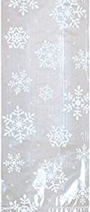 Christmas White Snowflake Plastic Party Bags, 20 Ct. | Supply