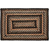 Black Forest Rectangle Braided Rug - 22x72