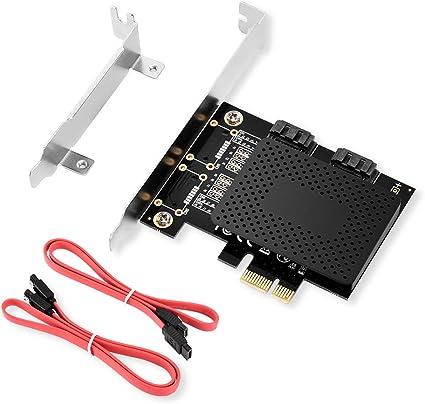 Amazon | ELUTENG SATA 増設 ボード 6Gbps 超高速 PCI-E to SATA 3.0 2 ...