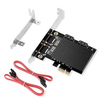 ELUTENG Tarjeta SATA PCIe de 2 puerto, adaptador PCI Express ...