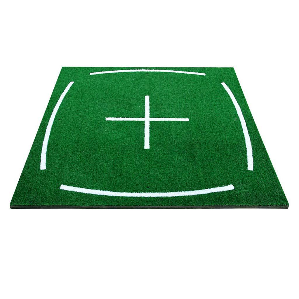 ゴルフパッティング練習マット ゴルフマット、スクエアポータブルエクササイザ、リアルパッド、スイングプラクティス、屋内外 オフィスホームスポーツゴルフトレーニング   B07RYDJK1V