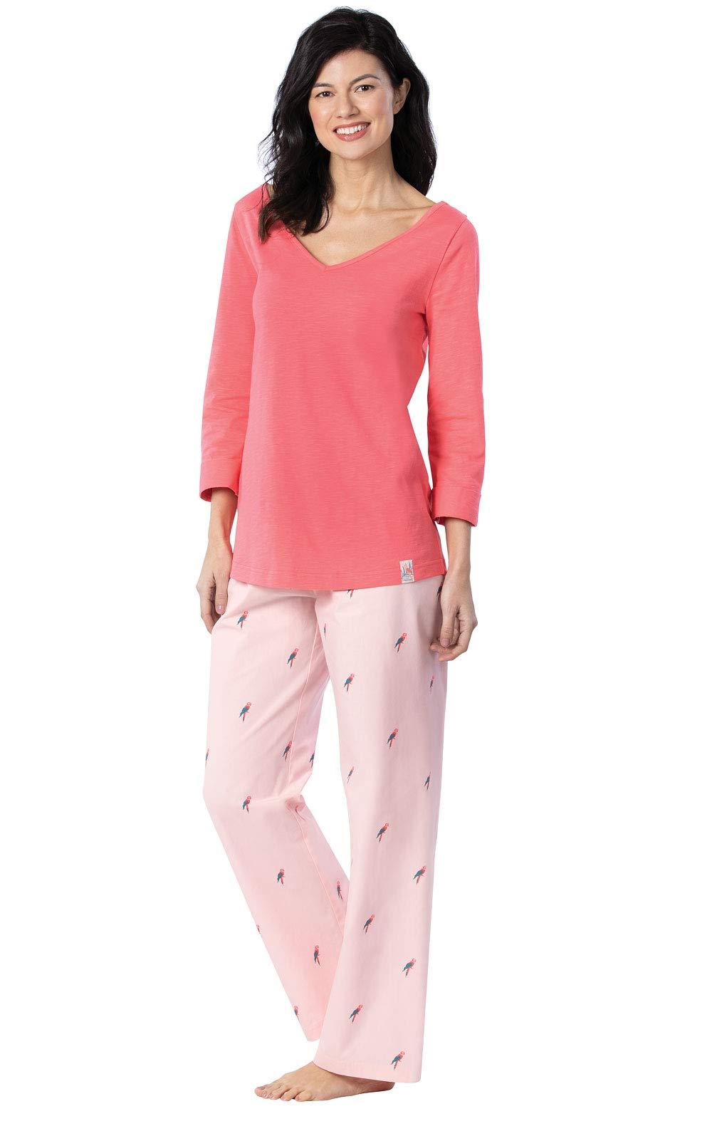 Margaritaville Women's Pajamas by PajamaGram - Tie Back, Coral, Medium, 8-10 by PajamaGram
