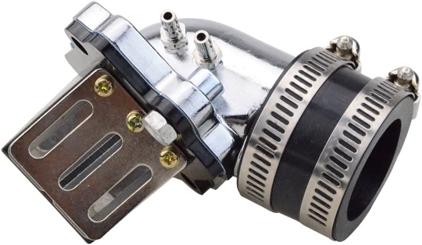 GOOFIT Intake Manifold with Reed Valves for 2 Stroke 50cc Yamaha Jog Moped Scooter