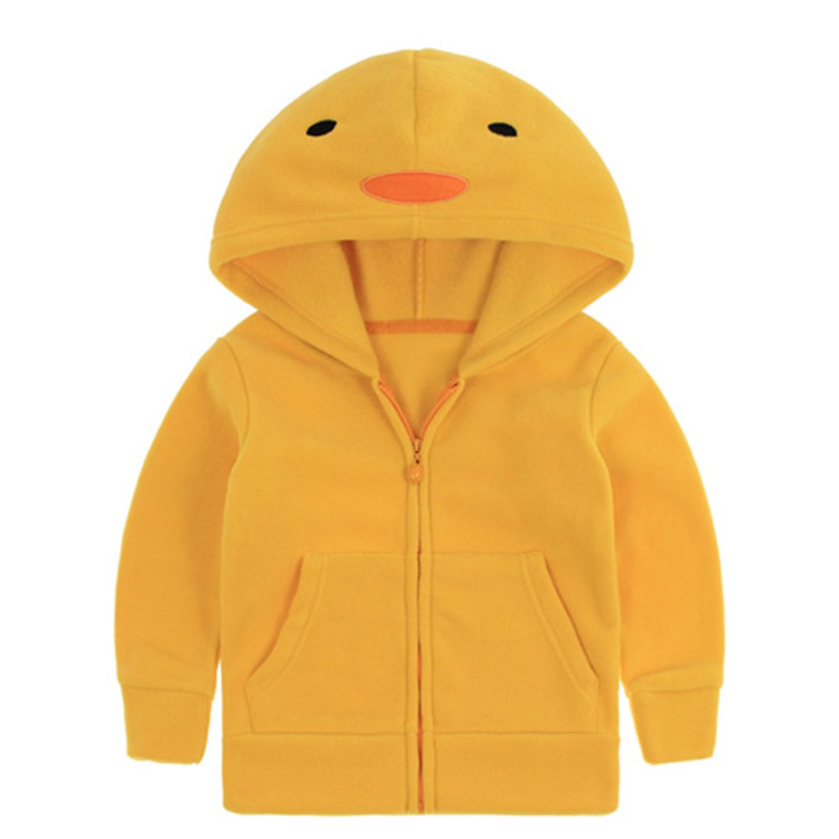 Kanodan Spring Warm Fleece Hooded Jacket Animal Outwear Coats Little Boys/Girls