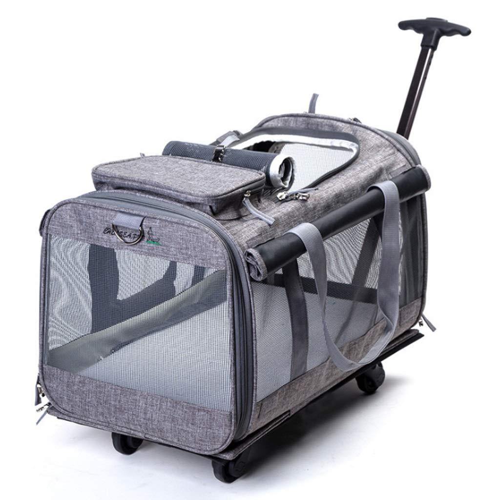 Dog Wheelchair Folding Pet Wheel, Pet Carrier, Luxury Pet Stroller Designed for Dogs, Cats, 360 ° redating Mute Wheel Design (46  25  35 cm) Hind Legs Rehabilitation (color   A)