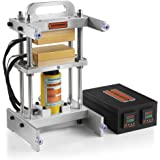 10 Ton Hydraulic Cylinder Heat Press Machine - Dual 3x5 Inches Heated Platens (No Pump Included)