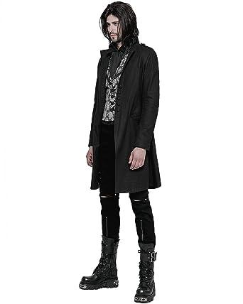 0649dd2c4ae8 Punk Rave Mens-Gotik Morgen Jacke Schwarz Steampunk Viktorianisch Gentleman  Mantel  Amazon.de  Bekleidung