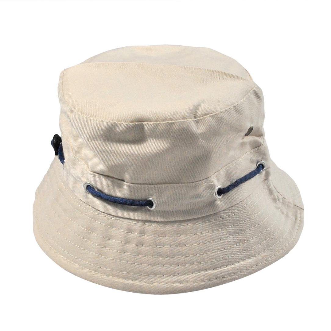 5e78f492b25 Limsea Men Women Unisex Cotton Bucket Hat Double Side Fishing Boonie Bush  Cap Visor Sun Beige at Amazon Women s Clothing store