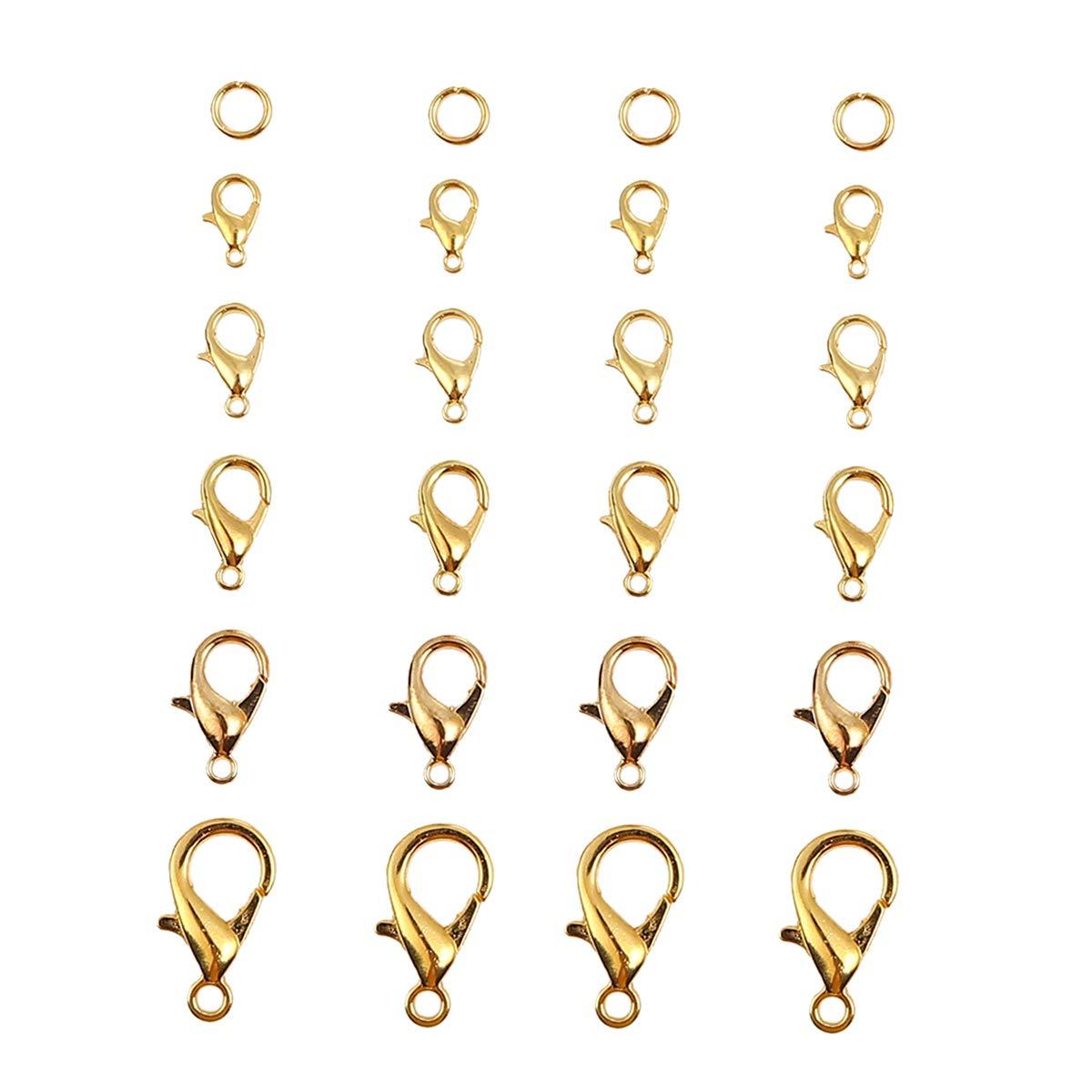 Obling Anneau Ouvert de Jonction Fermoirs /à Pince de Homard sans Nickel avec Bo/îte pour Fabrication de Bijoux Argent/é