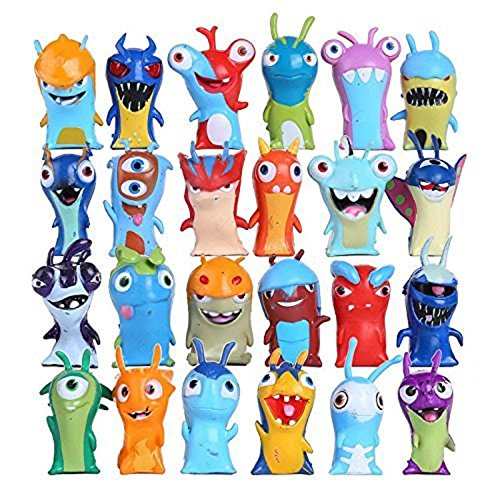 Max Fun 24 pcs/set Anime Cartoon Mini Slugterra PVC Action Figures, 4.5-5cm Kids Toys Dolls Cake toppers Party Supplies]()