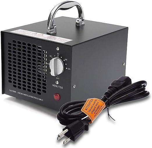 10.000 MG//h eliminador de olores Coches y Mascotas Blanco ionizador para Habitaciones HORO.ES Generador de ozono Comercial purificador de Aire de ozono Industrial Humo