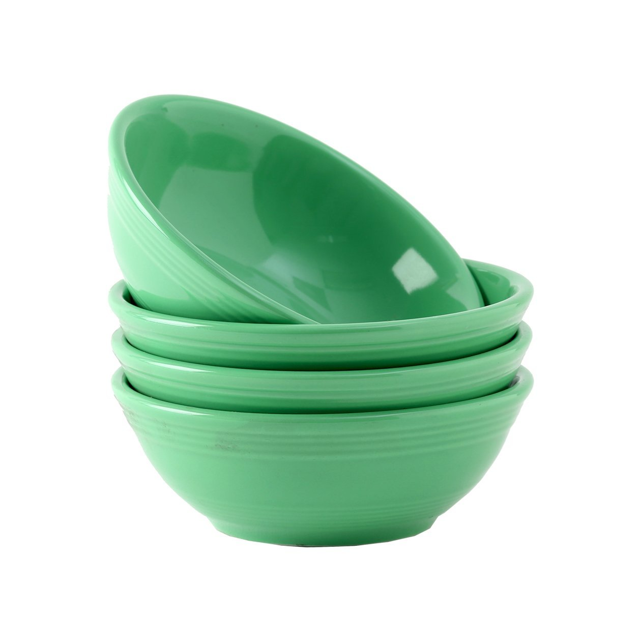 Tuxton Home Concentrix Bowl (Set of 4), 13 oz, Cilantro Green; Heavy Duty; Chip Resistant; Lead and Cadmium Free; Freezer to Oven Safe up to 500F