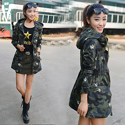 Camouflage Colored Female Windbreaker Of Jacket Cotton Sweater Female Xuanku Outdoor Other Foutune Long Leisure Uniforms In xSXEqw