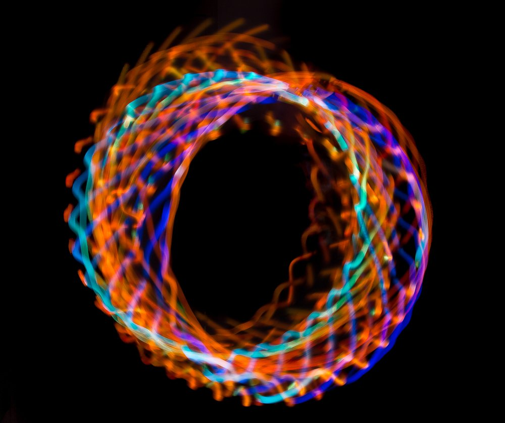 LED Hula Hoop 36'' Multi Color EL Lighting Perfect for Festivals and Rave - 28 Color Changing LED - Plain White No Wrapping by Rave Raptor (Image #5)