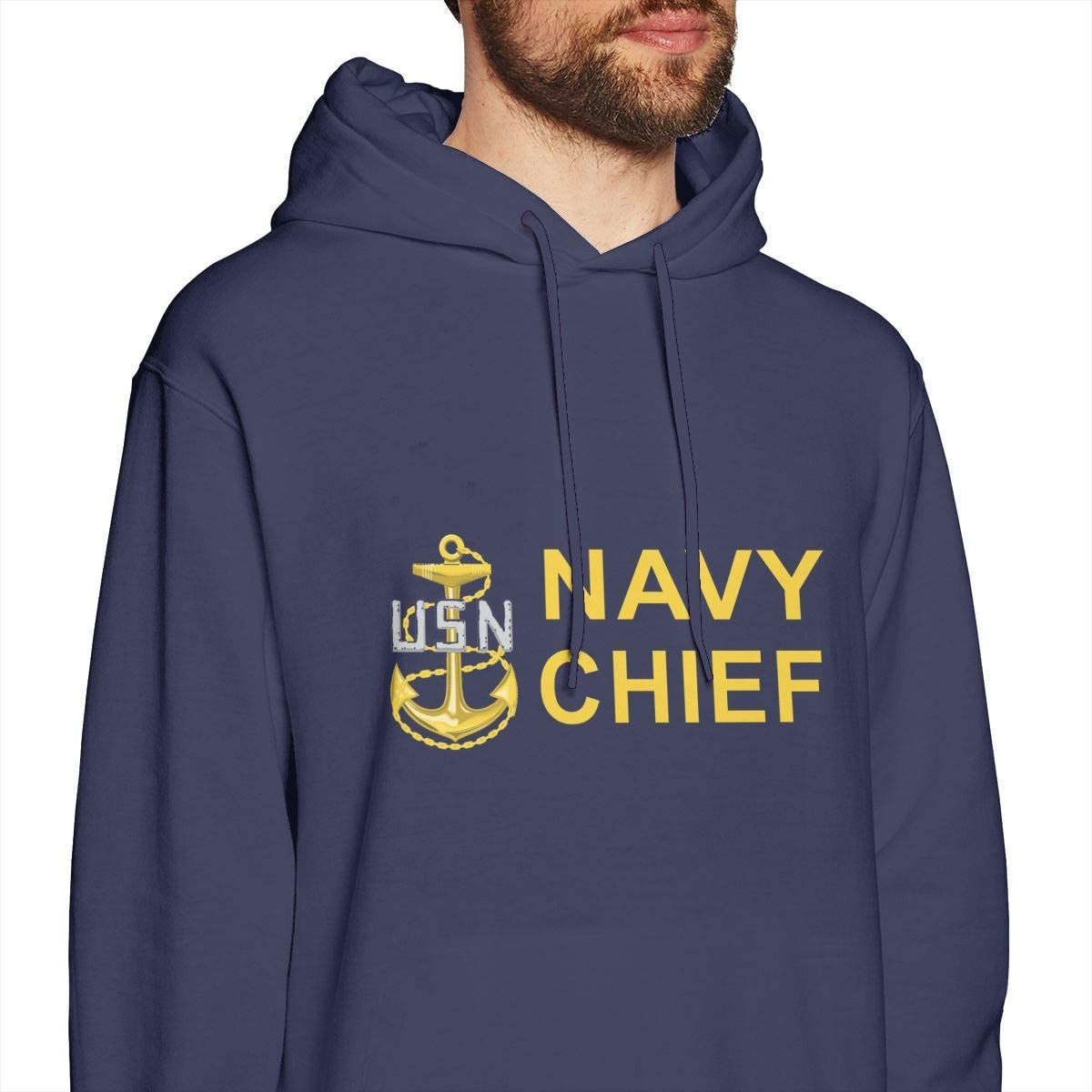 Navy Chief Petty Officer Mens Hooded Sweatshirt Theme Printed Fashion Hoodie CPO