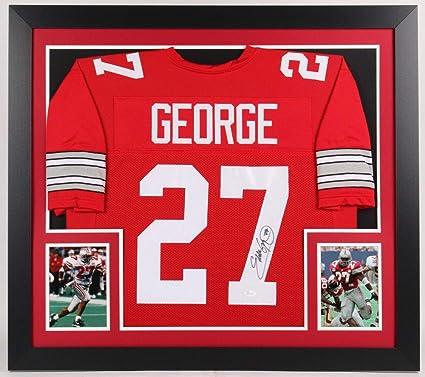 brand new 2f10b 5dde2 Eddie George Autographed Signed Ohio State Buckeyes 31X35 ...