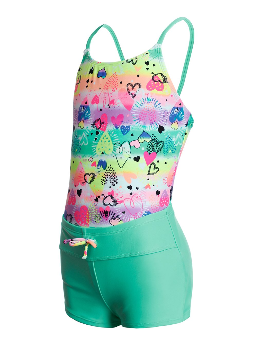 iDrawl Big Girls Rose Star Printed Unicorn Swimming Costumes Sun Protection One Piece Swimsuits for Age 6 to 14