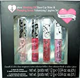 4 Piece Total Set - (2) Mouthing Off Sheer Lip Shine & (2) Plumping Serum Volumizing Lipgloss Set