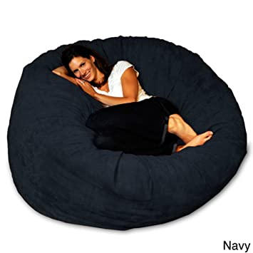 Bean Bag Chair 5 Foot Memory Foam Big Large For Adults And Teens Navy