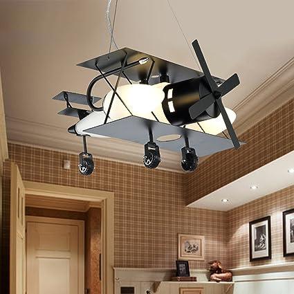 Lights & Lighting Ceiling Lights Plane Model Glass Lamps For Children Baby Kids Child Rooms Ceiling Light Lighting For Kid Room Decoration Decor