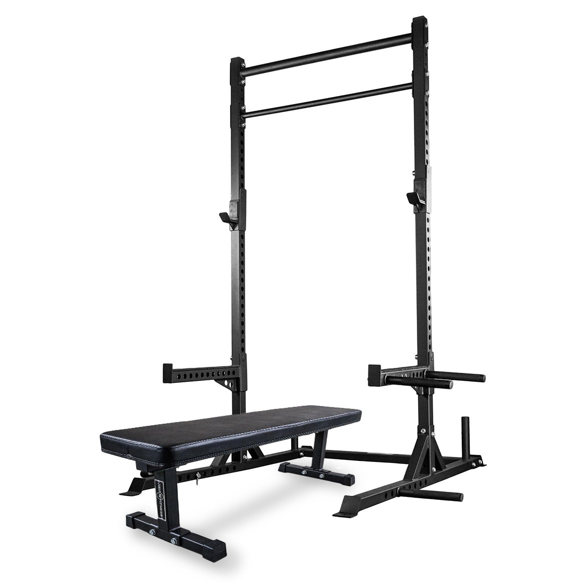 Rep Squat Rack with Pull Up Bar and Flat Bench - 110 in by Rep Fitness (Image #1)