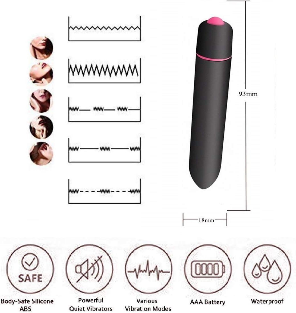 Powerful Bullet Vibrator with 10 Modes, Portable Mini Pocket Vagina Stimulator, Rechargeable Waterpr…