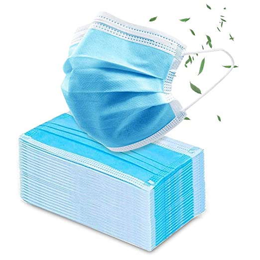 Protection Disposable Medical M-A-R-K-S,50PCS High Quality Anti Dust Anti-Pollution Face Blue 3 Layer Medical M-A-R-K