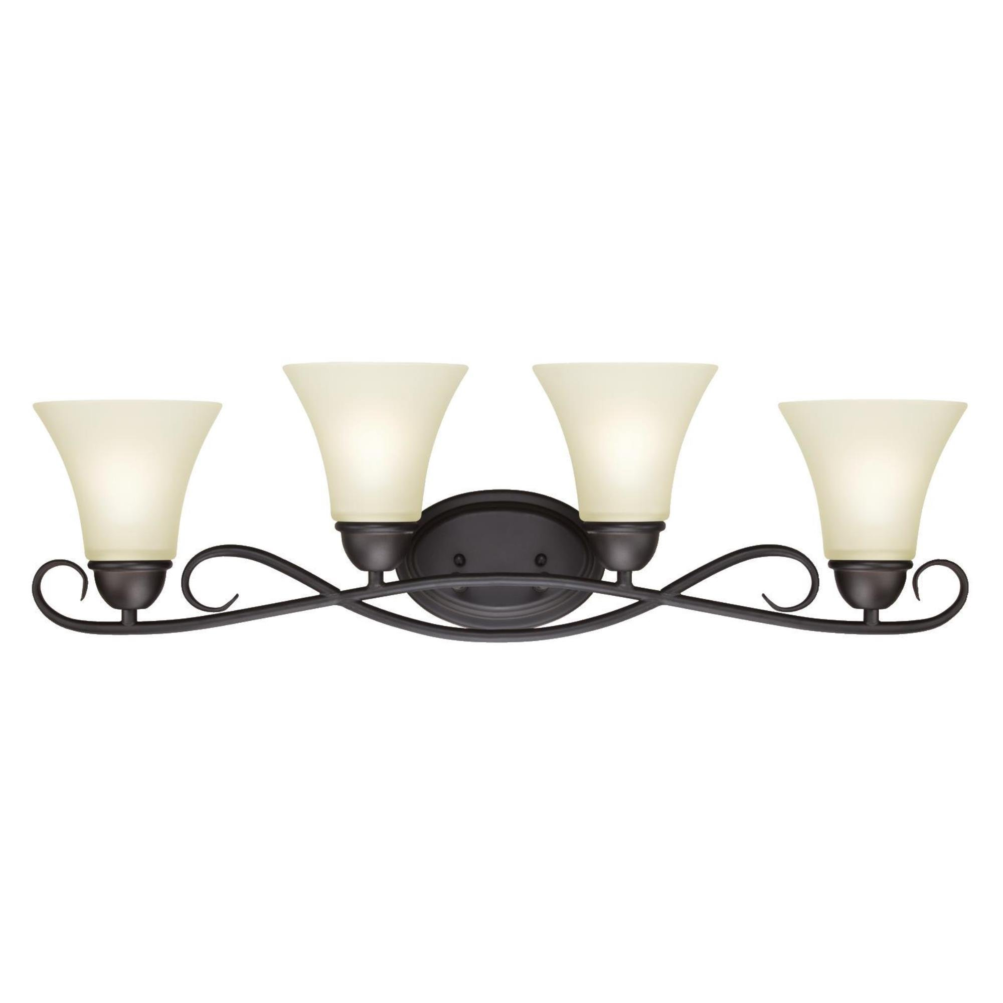 6307000 Dunmore Four-Light Indoor Wall Fixture, Oil Rubbed Bronze Finish with Frosted Glass