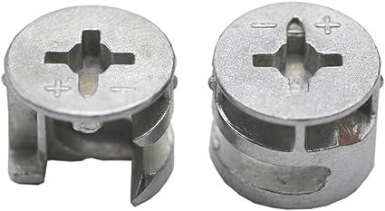 Scicalife 50pcs Cam Lock Fittings 15mm Furniture Connecter for Cabinet Drawer Dresser