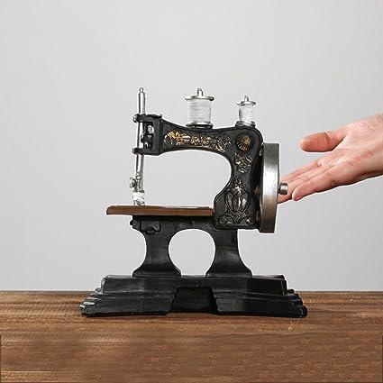 ZDQ Adornos Creativo Retro Decoraciones de época Máquinas de coser saxofón Muebles para el hogar Decoraciones