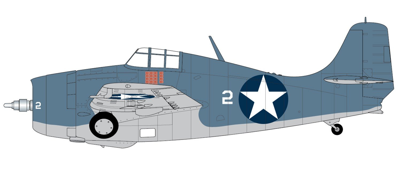 Airfix A02070 1//72 Grumman F4F-4 Wildcat Modellbausatz