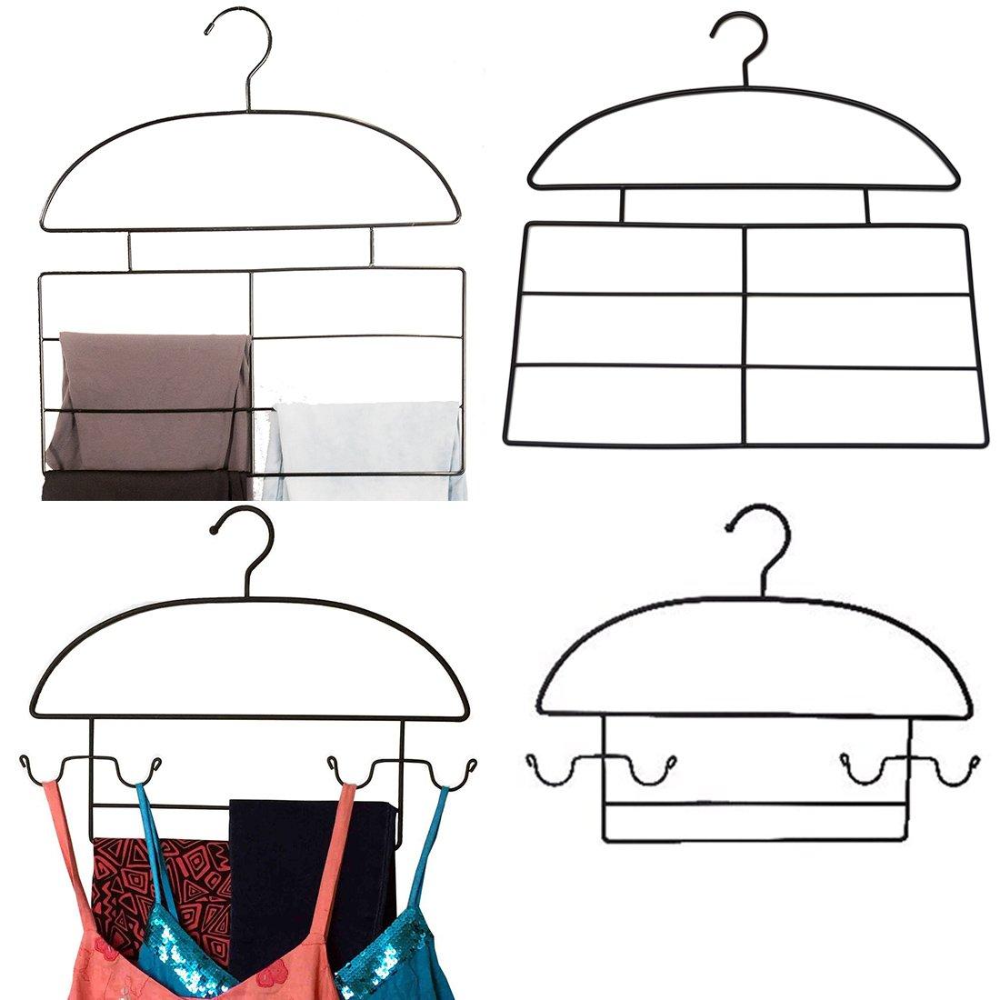 軸レディース衣類ハンガーオーガナイザーバンドル – 4-hangerコンボセットforレギンス、Jeggings、とワークアウト服装、4-hangers B079XN8B63