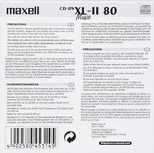 Maxell 624865 Cd Rw 80 Rohlinge Computer Zubehör