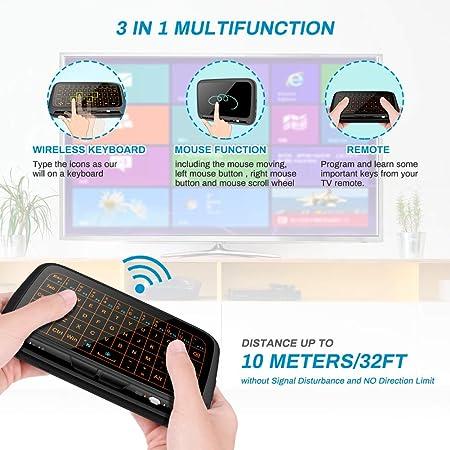 Mini Tastatur Wireless Mit Touchpad Welltop 2 4 Ghz Computer Zubehör
