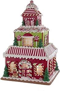 Kurt S. Adler 16.5-Inch LED Lights Gingerbread House, Multi